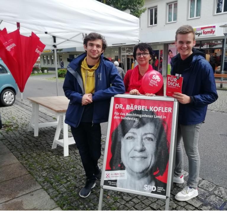 Infostand SPD Freilassing Jusos
